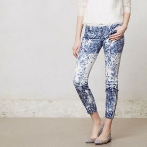 MOTHER $275 Floral Print The LOOKER Ankle Zip Jean